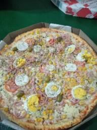 Pizza tamanho g valor 25.00 com a turbina de 2 litros