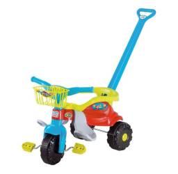 Triciclo Motoca Infantil Tico Tico Festa Azul Com Aro - Produto Novo