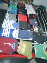 Lote 30 camisas diversas G+40 cabides