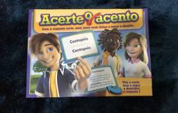 jogo educativo de tabuleiro e cartas infatil Acerte o Acento