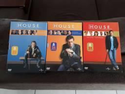 DVDs série House 1, 2 e 3 temporadas, originais