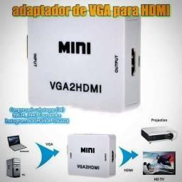 Vga para HDMI conversor