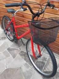 Bike aro 26 18 Marchas feminina com Cestinha  !