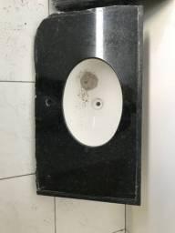 Pia de banheiro granito Verde Ubatuba!