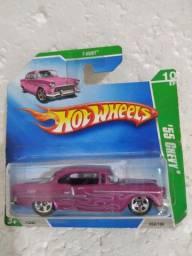 Hot wheels t hunt 55 chevy antigo no blister