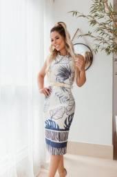 Vestido Midi Neoprene