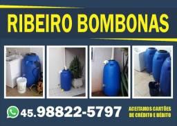Bombonas para reutilização de agua da chuva ou da maquina de lavar roupa
