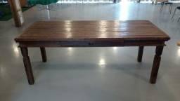 Kit rústico (estante, mesa e mesa de centro)