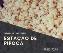 Estação de Pipoca + Algodão Doce para Festas e Eventos