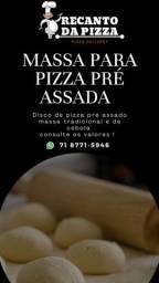 Massa para pizza pré assada