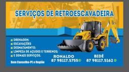 Título do anúncio: Serviços de Retroescavadeira