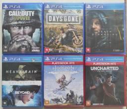 Vendo jogos de Playstation 4 PS4 em Uberlândia e Uberaba.