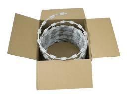 rolo de cerca concertina aço galvalume com 10 metros 45cm *