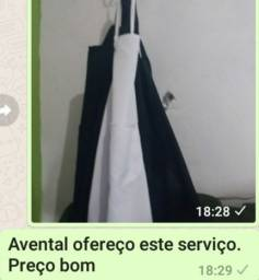 Avental toucas jalecos etc