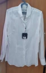 Título do anúncio: Blusa Social Branca de algodão Dudalina