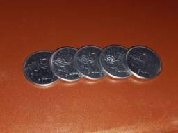 Moeda 50 Cruzeiros 5 moedas