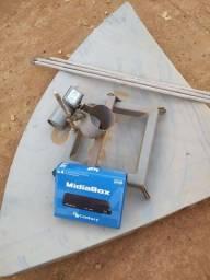 Antena parabólica usada com receptor century HD  novo  lnb novo proto pra estalar