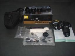 Câmera Nikon D3200 igual zero 748 Cliques com acessórios .