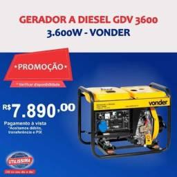 Gerador à Diesel 3600W GDV 3600 110/220V Vonder