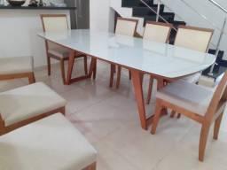 Título do anúncio: Mesa de madeira maciça pronta entrega de 8 lugares nova