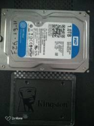 Ssd 120GB e HD 1 Tb novos !