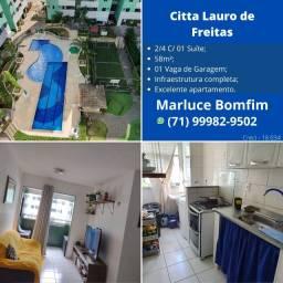 Excelente Oportunidade !! Apartamento 2/4 suíte e varanda no Citta Lauro de Freitas.