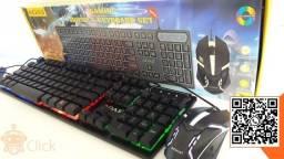 Kit Teclado e Mouse Gamer Iluminado, entregamos