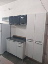 Armário  de cozinha  aço Rose Itatiaia novo com balcão completo