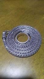 Cordão de Prata 925 Bali Ponto Peruano 60cm