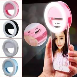 Portátil Recarregável 36LED Clipe Preencher Lâmpada Anel de Luz do Flash Selfie