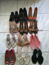 Lote de sapatos tamanho 35