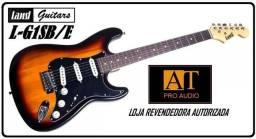 Guitarra Land L-G1 Sunburst/E c/alavanca 3 captadores singles tipo Fender Strato nova Loja