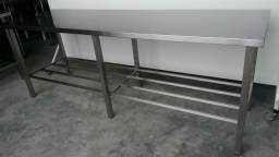 Gregory -:> Mesa industrial em Aço Inox AISI 430 MEdida 2,50mt -
