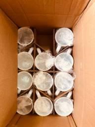 Pacote com 11 Canecas Brancas de Porcelana