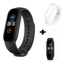 Relógio smartwatch Mi Band 5 + película + pulseira novo