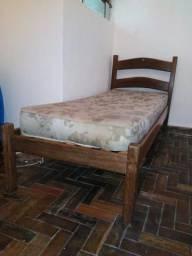 Cama de solteiro sucupira+colchão