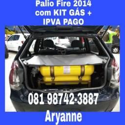Fiat Palio 1.0 Flex 2014 Com Kit Gas GNV Completo - 2014