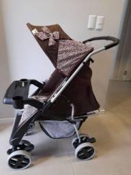 Carrinho De Bebê Reversível Thor Plus Rosa Onça Tutti Baby