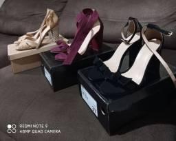 Vendo três pares de sandálias novas nº37