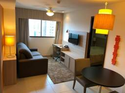 Flat mobiliado e decorado para morar ou investir