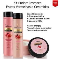 Kit para cabelos Eudora Instante Frutas Vermelhas