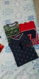 Lote camisas de marcas menino