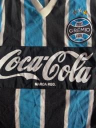 Camisa Grêmio retrô manga curta tamanho G
