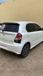 Toyota/Etios branco 1.5 flex platinum Ano/modelo:2018