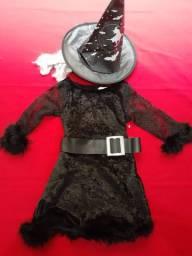 Fantasia de Bruxinha Infantil- Halloween