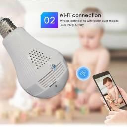 Lâmpada c câmera Wifi monitorada por celular