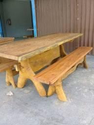 Mesas de madeira , rústicas e semi rústicas