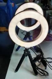 Iluminador De Led Com Tripe Ring Light Usb 16cm