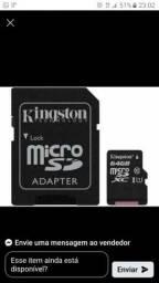 Vendo cartão de memoria 64gb