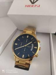Relógio Dourado Nibosi